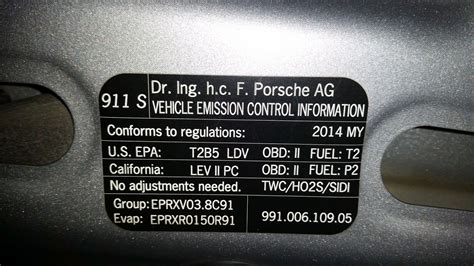Are all 991s in the US certified for California emissions