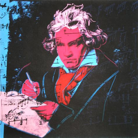 Andy Warhol poster : Beethoven (Red face), 1987