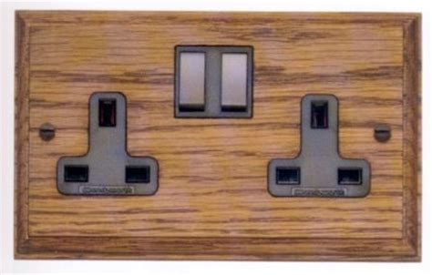 Art Deco electric fittings, bakelite switches, sockets
